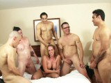 Surprise gangbang for his stag party